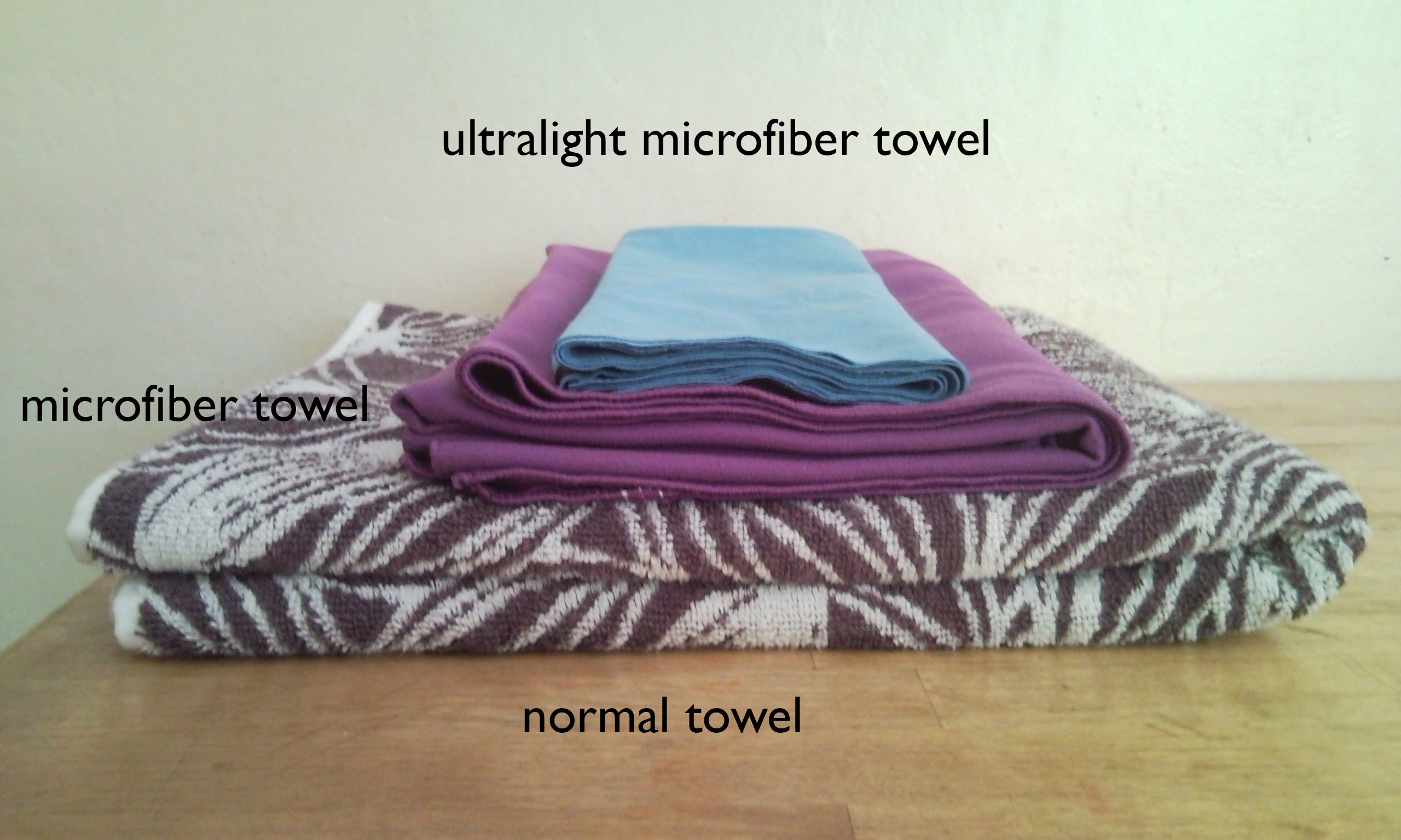 Light travellers' best friends Microfiber towels